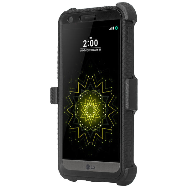 LG G6 heavy duty holster case - black - www.coverlabusa.com