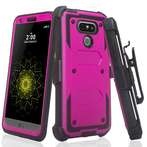 LG G6 heavy duty holster case - purple - www.coverlabusa.com