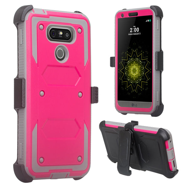 LG G6 heavy duty holster case - Hot Pink - www.coverlabusa.com