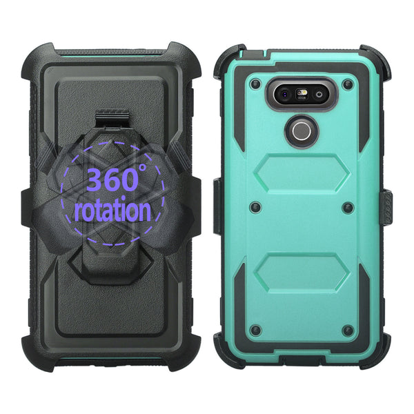 LG G6 heavy duty holster case - teal - www.coverlabusa.com