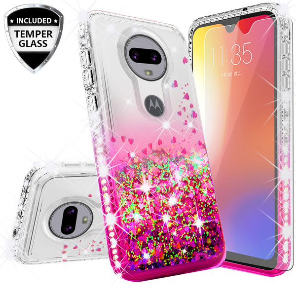clear liquid phone case for motorola moto g7 - purple - www.coverlabusa.com