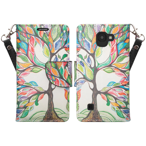 lg k3(2017) wallet case - colorful tree - www.coverlabusa.com