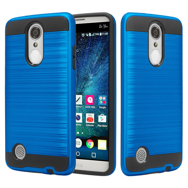 lg aristo case - hybrid brush - blue - www.coverlabusa.com