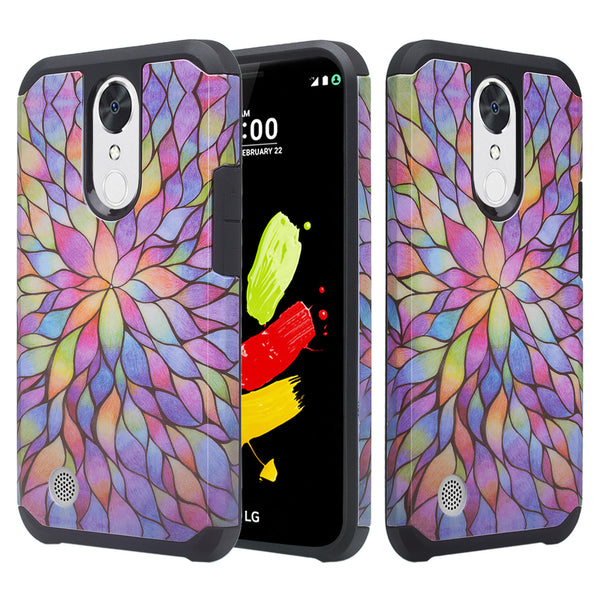 lg k20 V, K20 Plus hybrid case - rainbow flower - www.coverlabusa.com
