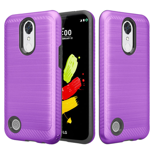 lg k10 (2017) hybrid case - brush purple - www.coverlabusa.com