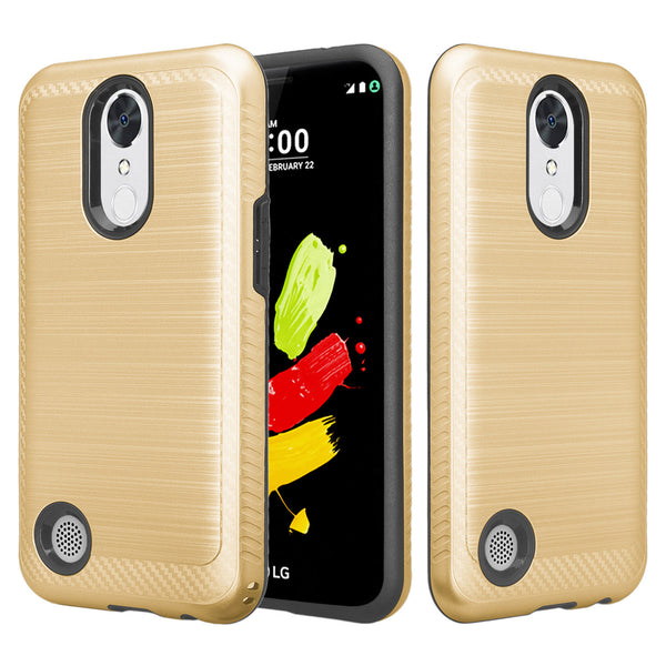 LG K4(2017) hybrid case - brush gold - www.coverlabusa.com
