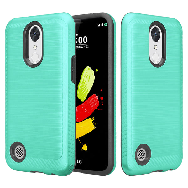 lg k10 (2017) hybrid case - brush teal - www.coverlabusa.com