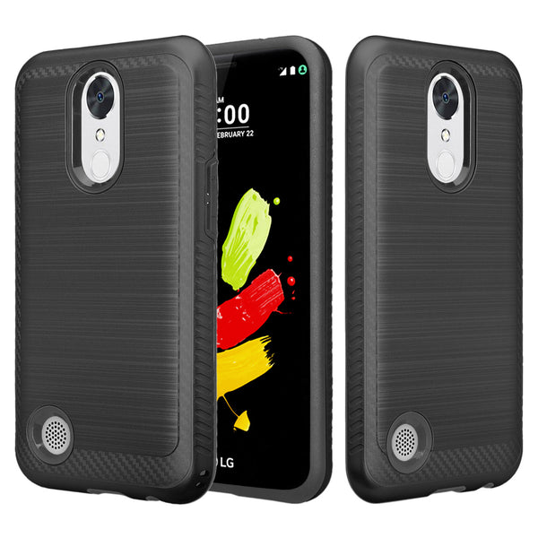 lg k4(2017) hybrid case - brush black - www.coverlabusa.com