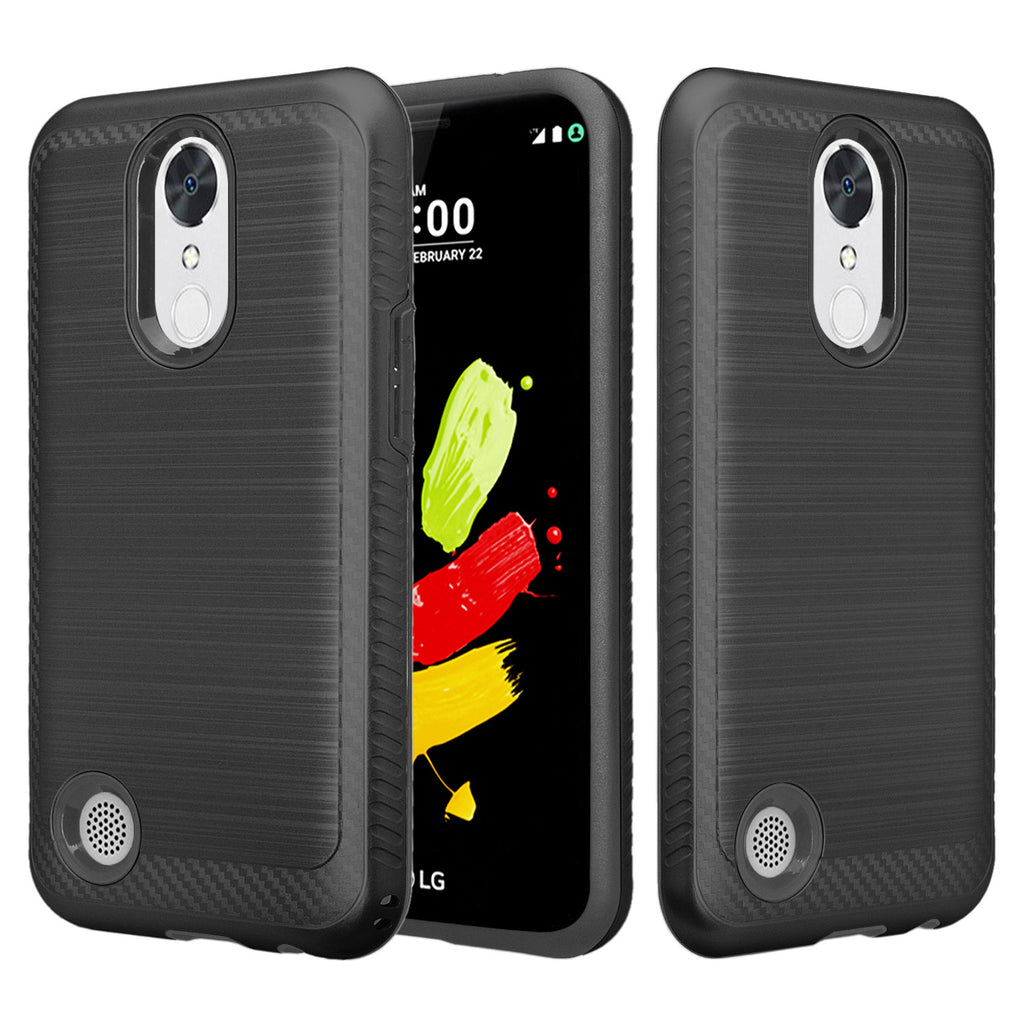 lg k10 (2017) hybrid case - brush black - www.coverlabusa.com
