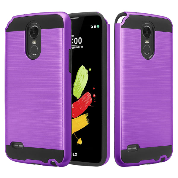 lg stylo 3 case - brush purple - www.coverlabusa.com
