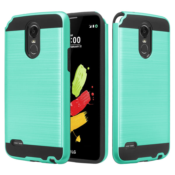 lg stylo 3 case - brush teal - www.coverlabusa.com