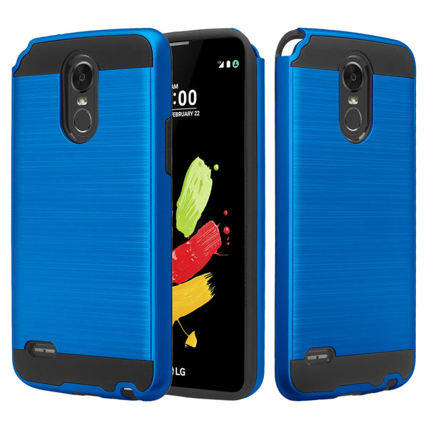 lg stylo 3 case - brush blue - www.coverlabusa.com