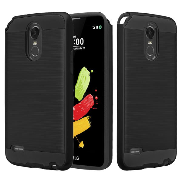 lg stylo 3 case - brush black - www.coverlabusa.com