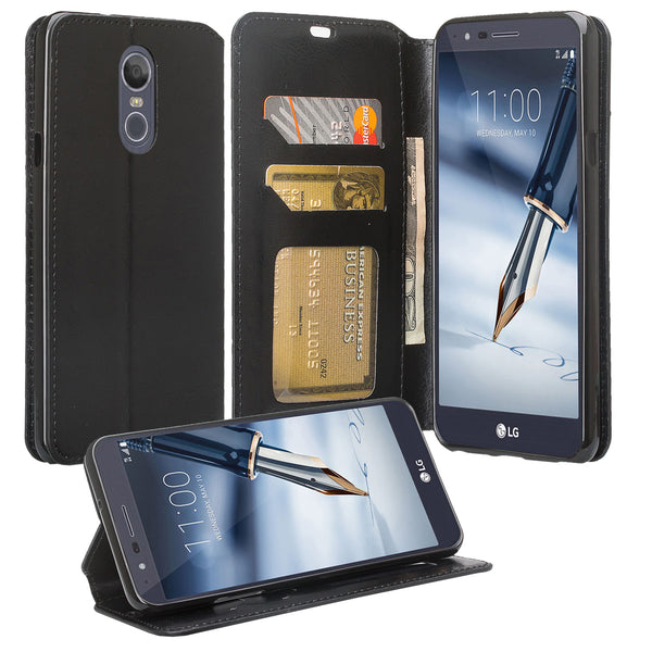 LG Stylo 5 Wallet Case - black - www.coverlabusa.com