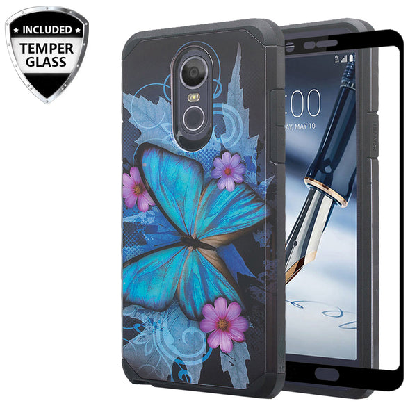 lg stylo 4 play hybrid case - blue butterfly - www.coverlabusa.com