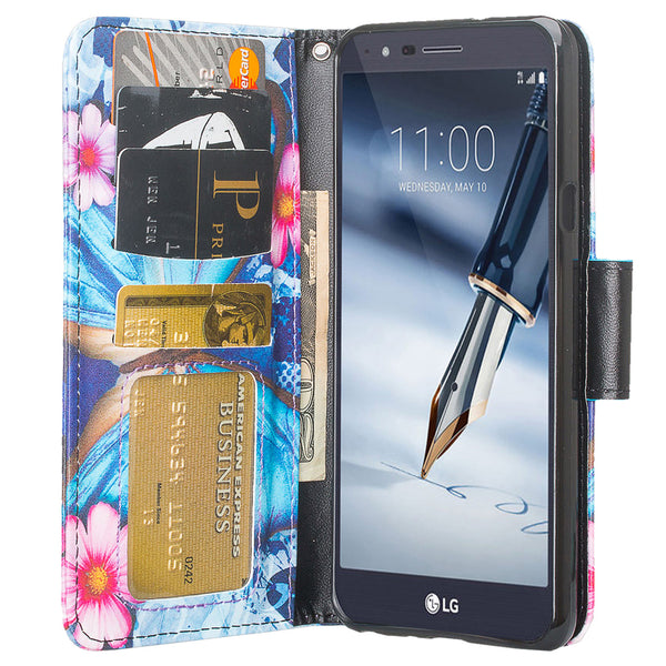 LG Stylo 5 Wallet Case - blue butterfly - www.coverlabusa.com