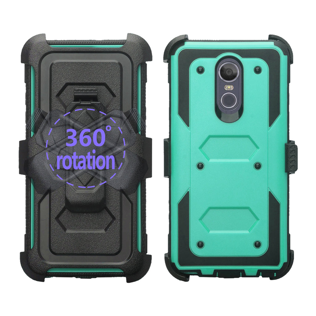 best loved f6368 c93fb LG Stylo 4 Case, Stylo 4 Plus, Q Stylus Triple Protection 3-1 w/ Built in  Screen Protector Heavy Duty Holster Shell Combo Case - Teal