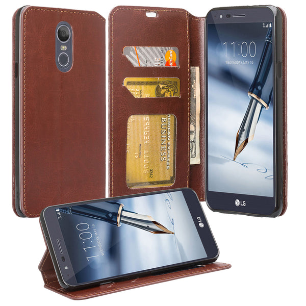 LG Stylo 4 Wallet Case - brown - www.coverlabusa.com
