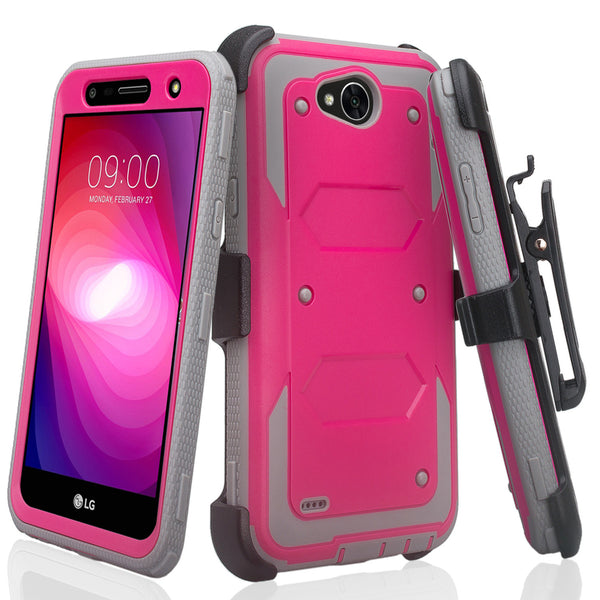 lg x power 2 heavy duty holster case - hot pink - www.coverlabusa.com