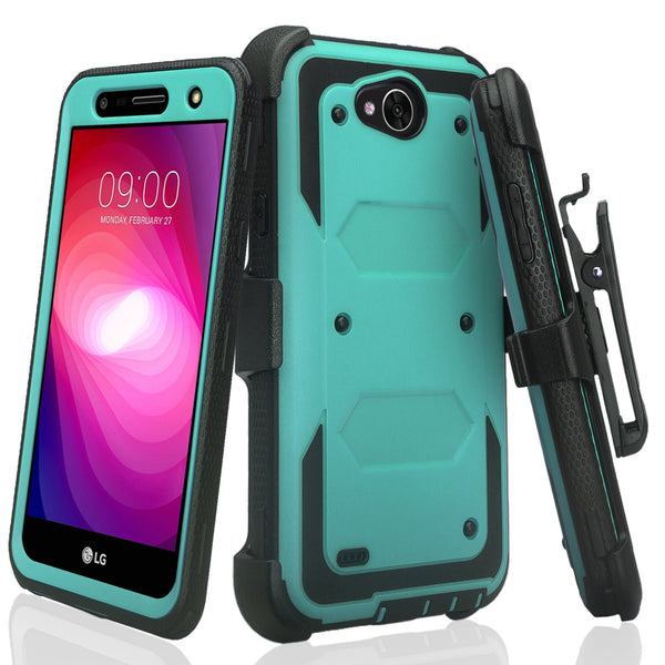 lg x power 2 heavy duty holster case - teal - www.coverlabusa.com