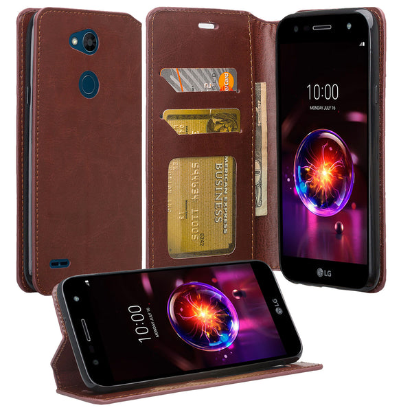 LG X Power 3 Wallet Case - brown - www.coverlabusa.com