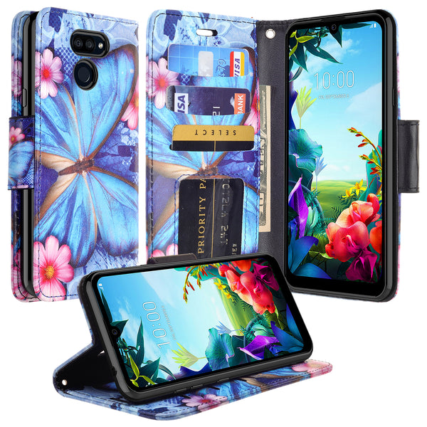 lg stylo 6 wallet case - blue butterfly - www.coverlabusa.com