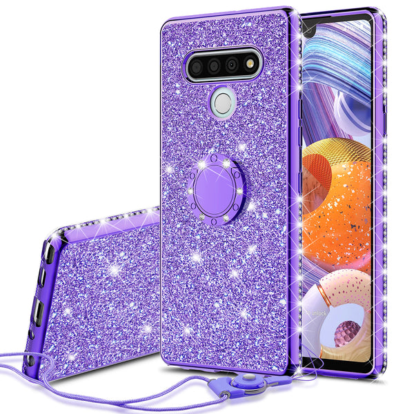 lg stylo 6 glitter bling fashion case - purple - www.coverlabusa.com