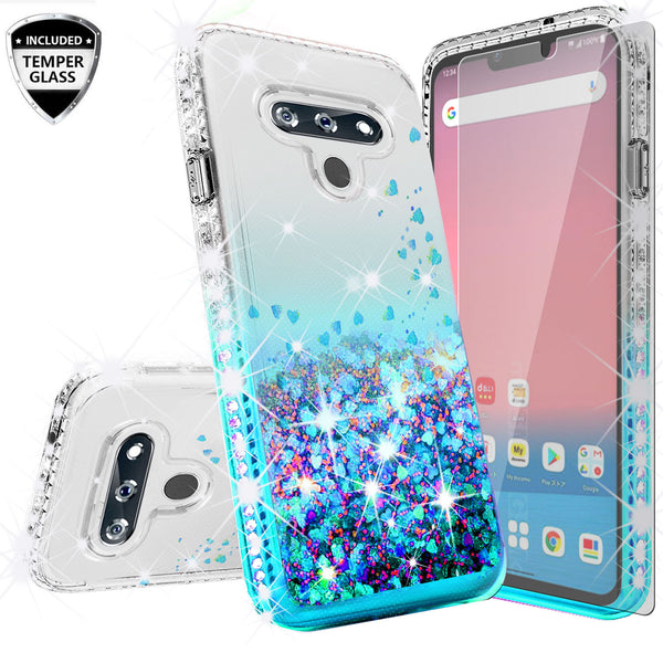 clear liquid phone case for lg harmony4 - teal - www.coverlabusa.com