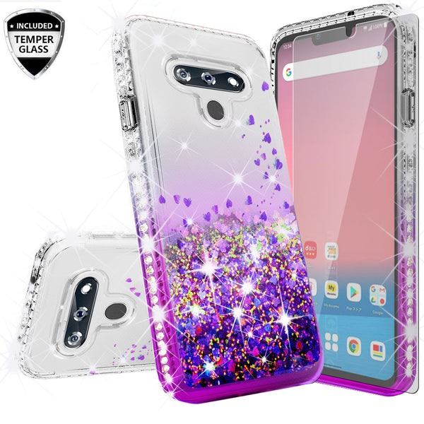 clear liquid phone case for lg harmony4 - purple - www.coverlabusa.com