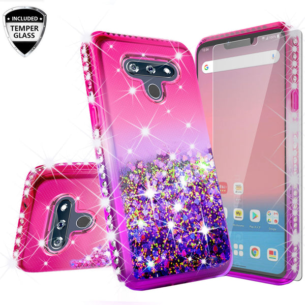 glitter phone case for lg harmony4 - hot pink/purple gradient - www.coverlabusa.com