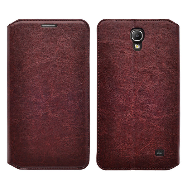 samsung galaxy mega2 leather wallet case - brown - www.coverlabusa.com