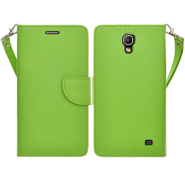 samsung galaxy mega2 leather wallet case - green - www.coverlabusa.com