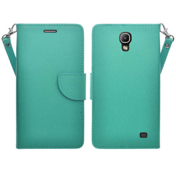 samsung galaxy mega2 leather wallet case - teal - www.coverlabusa.com