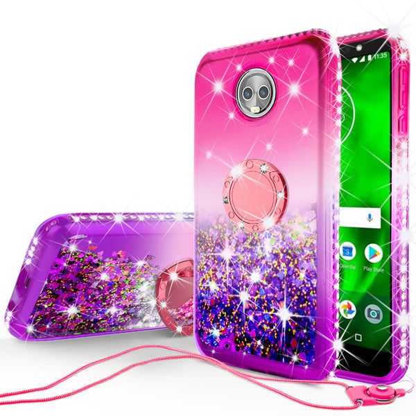 glitter ring phone case for moto g6 - hot pink gradient - www.coverlabusa.com