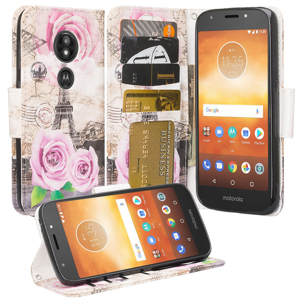 Motorola Moto E5 Plus leather wallet case - paris - www.coverlabusa.com