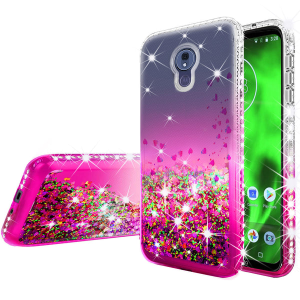 clear liquid phone case for motorola moto g7 power - hot pink - www.coverlabusa.com