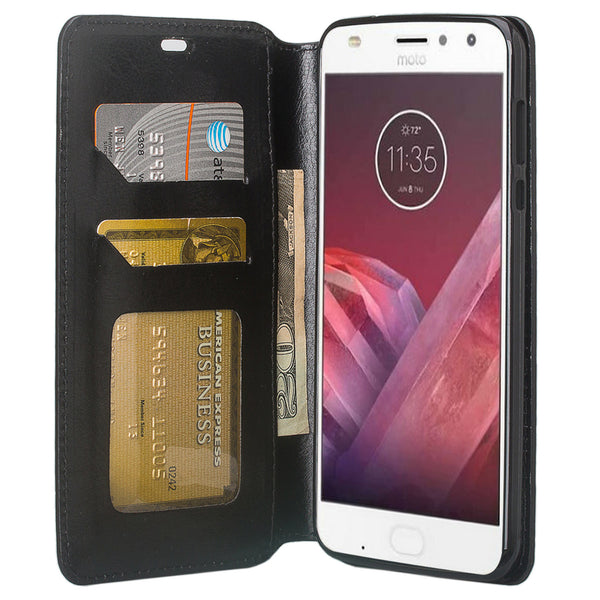 Moto Z2 Force Wallet Case - black - www.coverlabusa.com