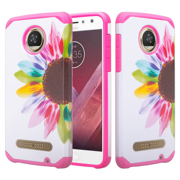 motorola moto z2 force hybrid case - vivid sunflower - www.coverlabusa.com