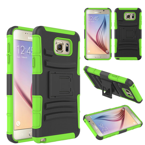 Samsung Galaxy Note 5 Case built in kickstand - Green - www.coverlabusa.com