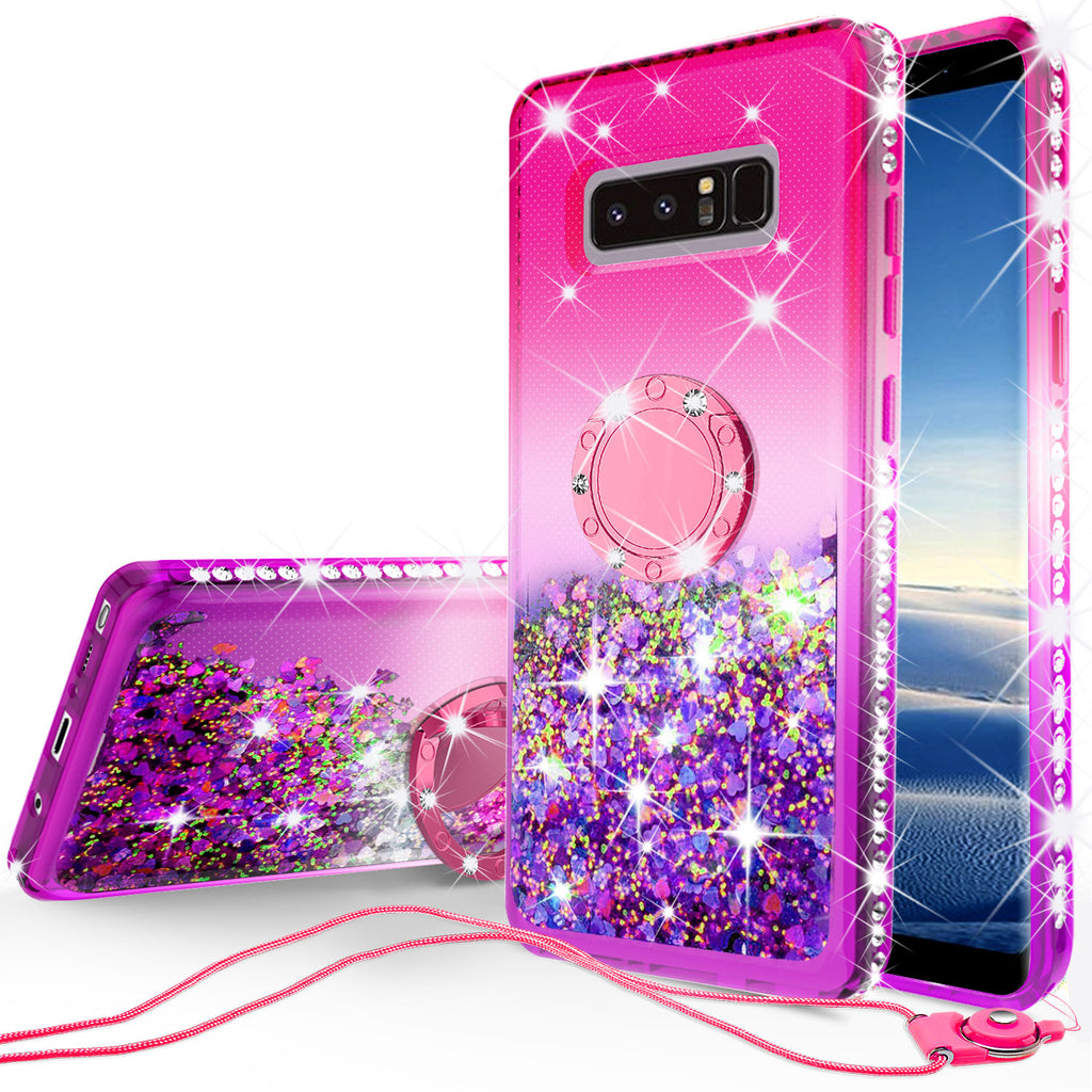 af82f04a4bc8 glitter ring phone case for samsung galaxy note 8 - pink gradient -  www.coverlabusa