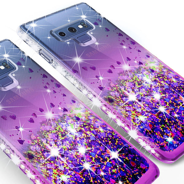 clear liquid phone case for samsung galaxy note 9 - purple - www.coverlabusa.com