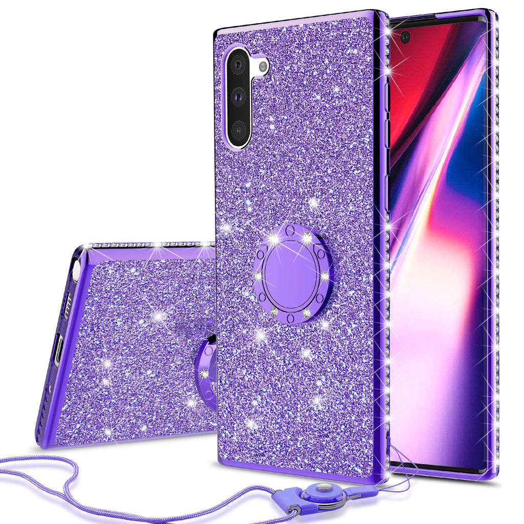 samsung galaxy note 10 glitter bling fashion case - purple - www.coverlabusa.com