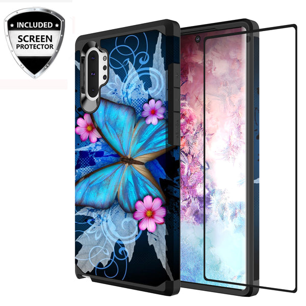 samsung galaxy note 10 plus hybrid case - blue butterfly - www.coverlabusa.com