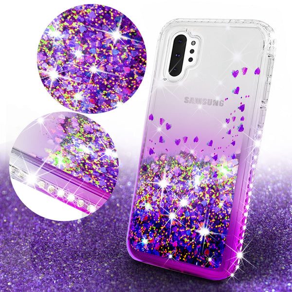 clear liquid phone case for samsung galaxy note 10 - purple - www.coverlabusa.com