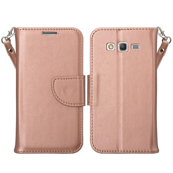 Galaxy go prime / Grand prime rose gold wallet www.coverlabusa.com
