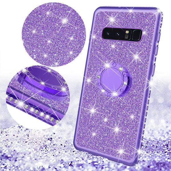samsung galaxy s10e glitter bling fashion case - purple - www.coverlabusa.com