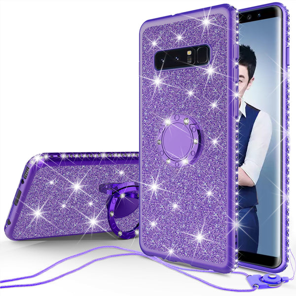 samsung galaxy s10 plus glitter bling fashion 3 in 1 case - purple - www.coverlabusa.com