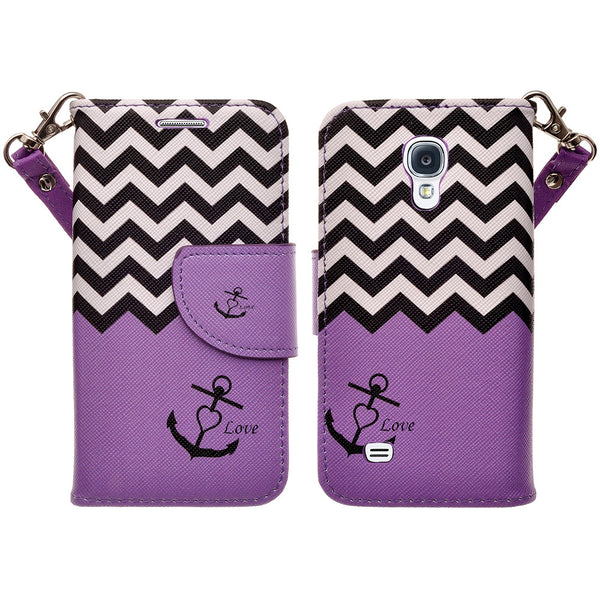 samsung galaxy s4 mini leather wallet case - purple anchor - www.coverlabusa.com