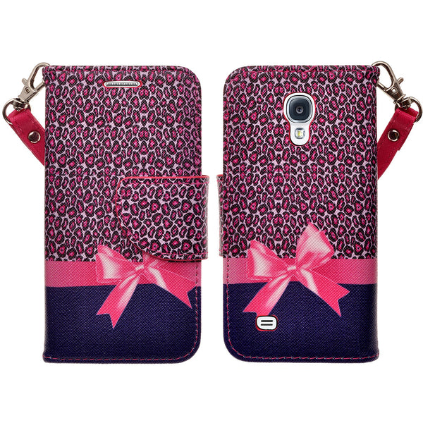 samsung galaxy s4 mini leather wallet case - cheetah prints - www.coverlabusa.com