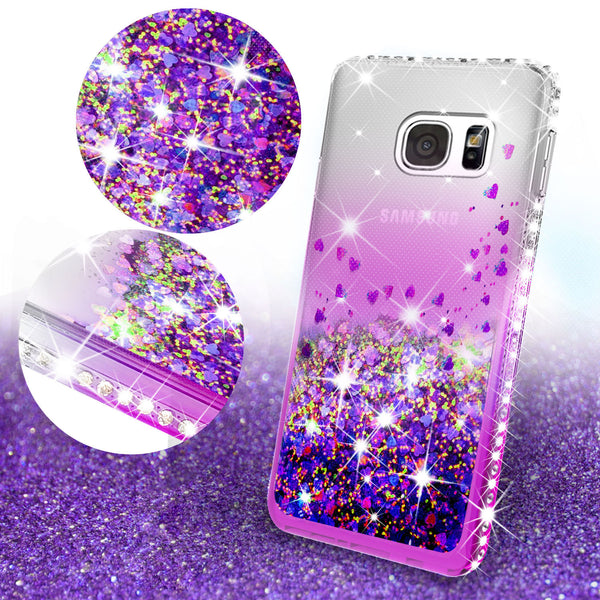 clear liquid phone case for samsung galaxy s7 edge - purple - www.coverlabusa.com